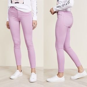 NEW FRAME Le High Skinny Jeans Faded Light Purple